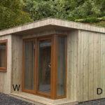 8ft (W) x 8ft (D) Contemporary Garden Room