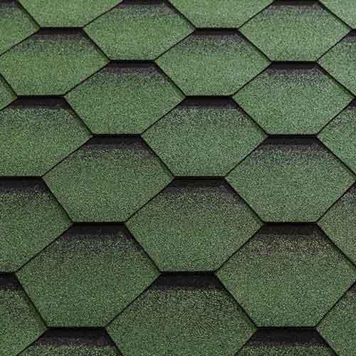 Green Felt Shingle Tiles