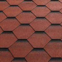 Red Felt Shingle Tiles