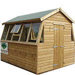 8ft (W) x 8ft (D) Double Potting Shed