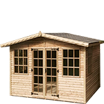 8ft (W) x 6ft (D) Loglap Cabin