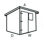 Configuration A (Pent Shed)