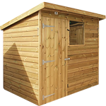 7ft (W) x 5ft (D) Pent Shed