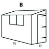 Configuration B (Reverse Pent Shed)