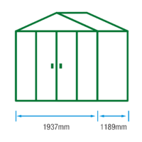 6ft (W) x 4ft (D) Metal Shed