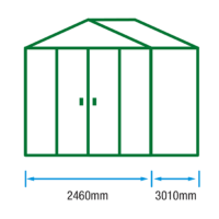 10ft (W) x 8ft (D) Metal Shed