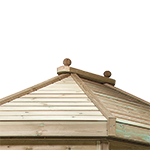 Triple Layer Slatted Wooden Roof